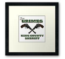 Vote Grimes Framed Print