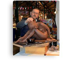 The Sculpture At Work Canvas Print