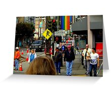 Red Light Castro District Greeting Card