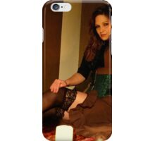 Countess Steamworthy by candle light iPhone Case/Skin