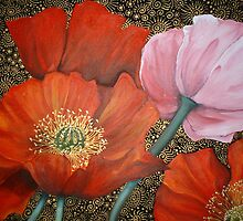 Patterned Poppies by Cherie Roe Dirksen