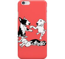 English Bull Terrier Family  iPhone Case/Skin