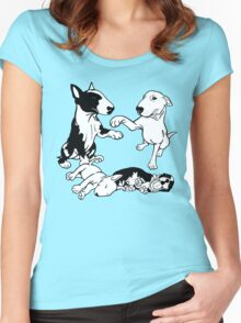English Bull Terrier Family  Women's Fitted Scoop T-Shirt