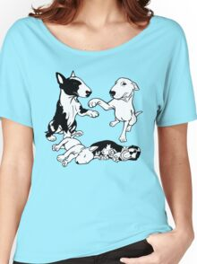 English Bull Terrier Family  Women's Relaxed Fit T-Shirt