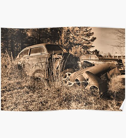 New years day in the junk yard  Poster