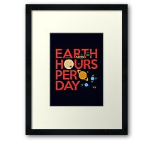 Earth Hours Per Day Framed Print