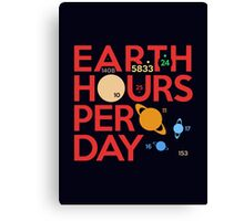 Earth Hours Per Day Canvas Print