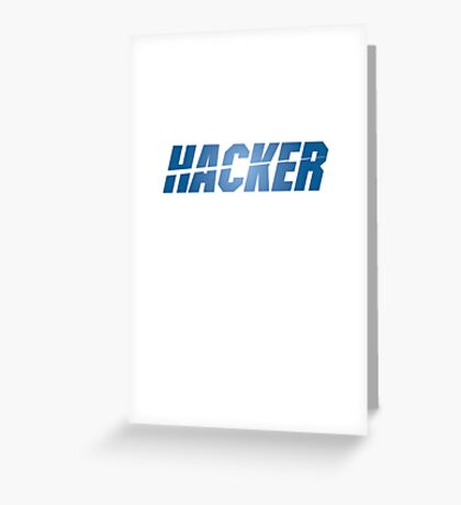 Leverage Hacker Greeting Card