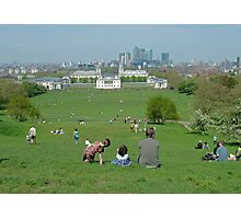 Greenwich Park on Holiday Photographic Print