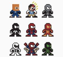 8-bit Spider-Man Through the Ages Kids Clothes