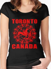 TORONTO, CANADA-3 Women's Fitted Scoop T-Shirt