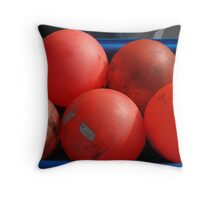 red bouys Throw Pillow