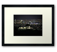 City of Angels - Los Angeles Nighttime Skyline Framed Print