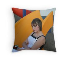 The Kid in Me Throw Pillow