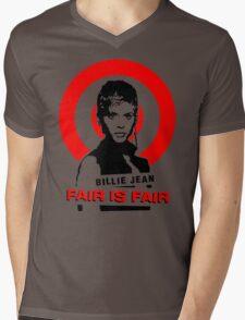 Billie Jean 'Fair is Fair' Mens V-Neck T-Shirt