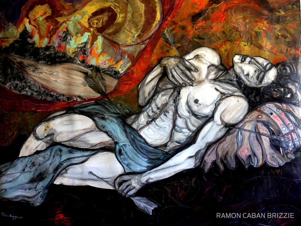 SAINT SEBASTIAN MARTYRDOM-copyright protected by RAMON CABAN BRIZZIE