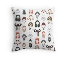 The Unwritten Lady Dwarves of Middle Earth Throw Pillow