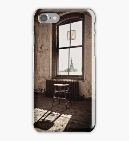 Ellis Island New York: Liberty Awaits iPhone Case/Skin