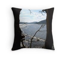 From The Shadows - Loch Ness Throw Pillow
