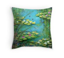 Fairy Tale Water Lilies Pond Throw Pillow