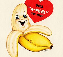 Valentine's Day! Banana Valentine by Kelly  Gilleran