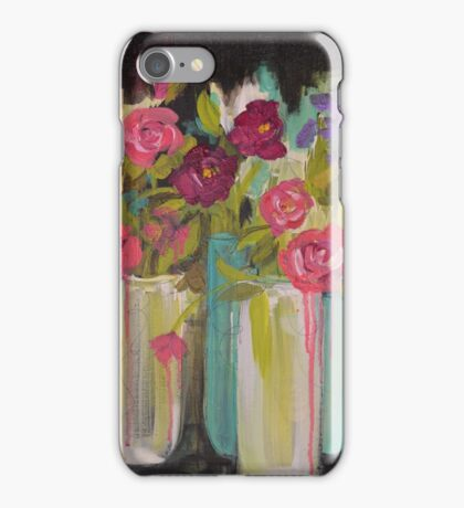 Luscious Roses Dripping with Beauty iPhone Case/Skin