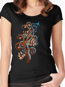 Two Trees and Butterflies Women's Fitted Scoop T-Shirt