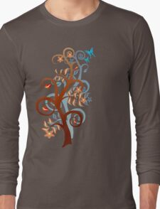 Two Trees and Butterflies Long Sleeve T-Shirt