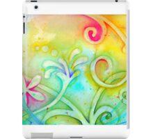 Playful Fancy of Swirls and Curls iPad Case/Skin