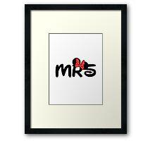 Mrs.Mouse Framed Print
