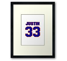 National football player Justin Griffith jersey 33 Framed Print