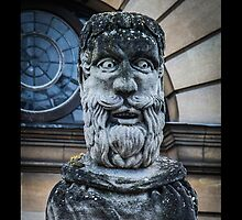 Comical Statue at Oxford University by Nicole Petegorsky