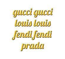 Gucci Gucci Text by SCRTSQRL