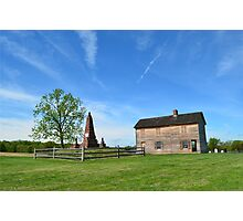 The Henry House and Bull Run Monument Photographic Print