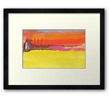 Industrial Landscape study III Framed Print