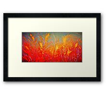 AMBER WHEYS OF GRAIN Framed Print