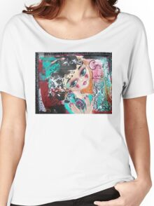 CRAZY LOVE Cat Artwork Adoption Advocacy  Women's Relaxed Fit T-Shirt