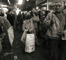 Tiny old lady at the market by JudyBJ