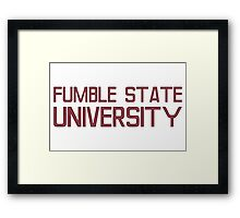 Fumble State University Framed Print