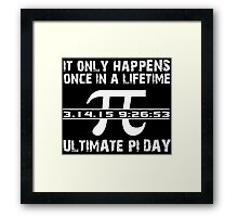Cool 'Ultimate Pi Day 2015' T-shirts, Hoodies, Accessories and Gifts Framed Print