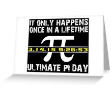 Amazing 'Ultimate Pi Day 2015 Gold' T-shirts, Hoodies, Accessories and Gifts Greeting Card