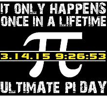 Amazing 'Ultimate Pi Day 2015 Gold' T-shirts, Hoodies, Accessories and Gifts Photographic Print