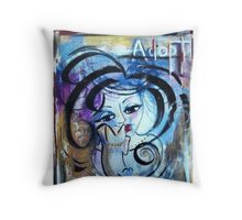 Animal Lover Painting Adoption Advocacy Loralai Throw Pillow