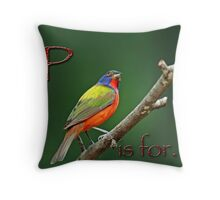 P is for . . . Throw Pillow