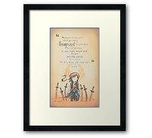 The Journey by Mary Oliver - [A Scribble] Framed Print