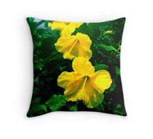 Tri-Biscus Throw Pillow