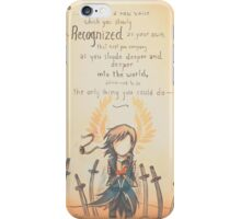 The Journey by Mary Oliver - [A Scribble] iPhone Case/Skin