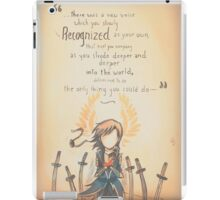 The Journey by Mary Oliver - [A Scribble] iPad Case/Skin