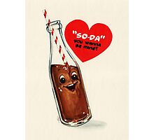 Valentine's Day! Soda Valentine Photographic Print