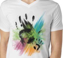 Finger Paint Mens V-Neck T-Shirt